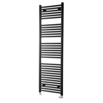 Towelrads Pisa Black Straight Towel Radiator 1200 x 600mm
