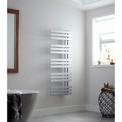 Towelrads Cobham Chrome Straight Towel Radiator 1200mm x 500mm