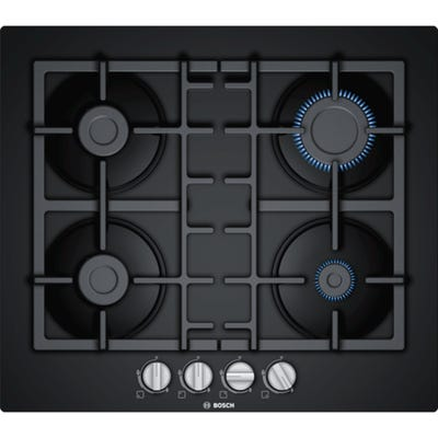 Bosch PNP6B6B90 Serie 4 80cm 4 Burner Gas Black Glass
