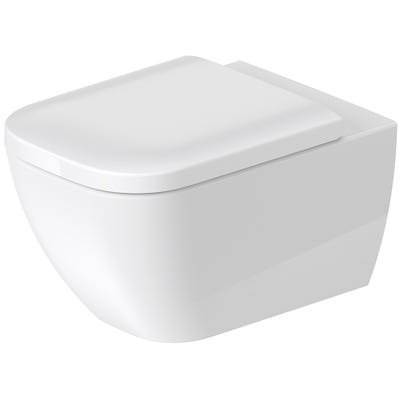 Duravit Happy D.2 Wall Mounted Toilet Rimless White 355 x 400 x 540mm