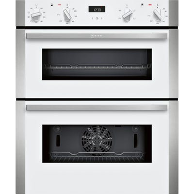 Neff J1ACE2HW0B N50 Built Under Double Oven White With Steel Trim