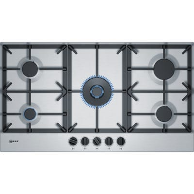 Neff T29DS69N0 N70 90cm 5 Burner Gas Hob Stainless Steel