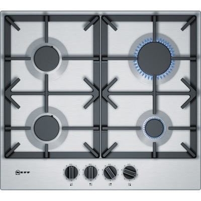 Neff T26DS49N0 N70 60cm 4 Burner Gas Hob Stainless Steel