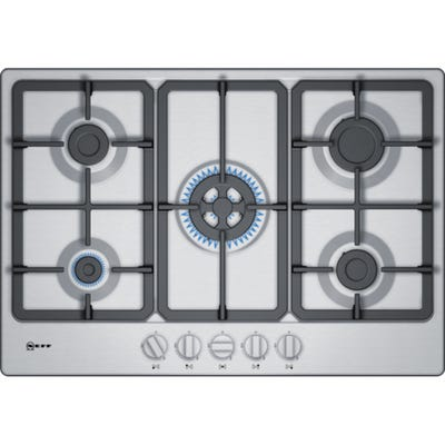 Neff T27BB59N0 N50 75cm 5 Burner Gas Hob Stainless Steel