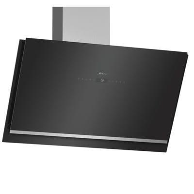 Neff D96IKW1S0B N90 90cm Angled Chimney Hood Touch Control Black Glass