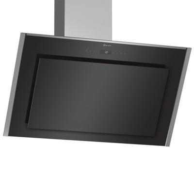 Neff D95IMT1N0B N90 90cm Angled Chimney Hood Touch Control Black Glass
