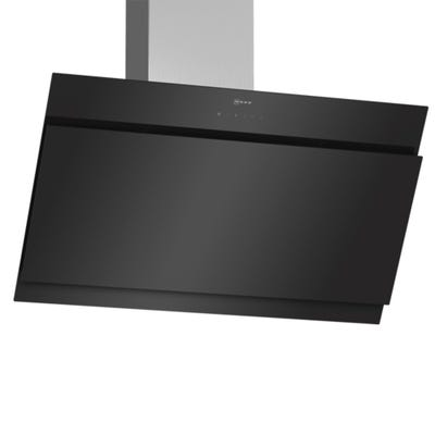 Neff D95IHM1S0B N50 90cm Angled Chimney Hood Black Glass