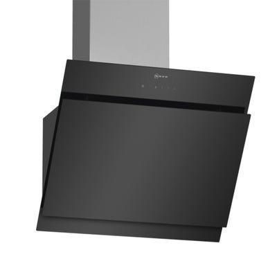 Neff D65IHM1S0B N50 60cm Angled Chimney Hood Black Glass