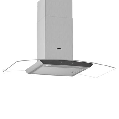Neff D94AFM1N0B N50 90cm Curved Chimney Hood Stainless Steel & Glass