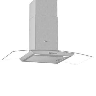 Neff D94ABC0N0B N30 90cm Curved Chimney Hood Stainless Steel & Glass