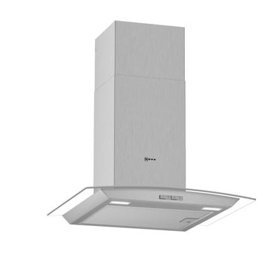 Neff D64ABC0N0B N30 60cm Curved Chimney Hood Stainless Steel & Glass