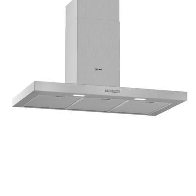 Neff D92BBC0N0B N30 90cm Push Button Box Design Chimney Hood Stainless Steel