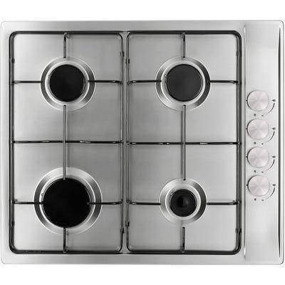 Culina 60cm 4 Burner Gas Hob Stainless Steel