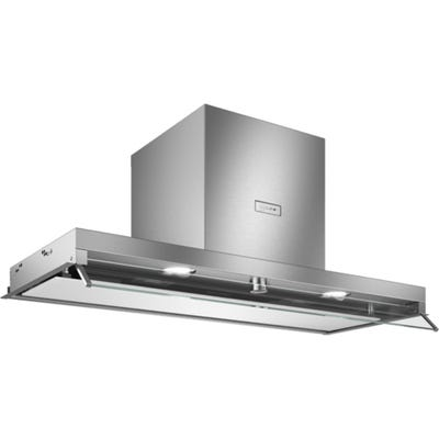 Neff D94XAF8N0B N70 90cm Built-In Canopy Hood Stainless Steel & White Glass