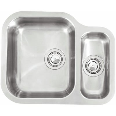 Reginox Alaska 1.5 Bowl L Undermount Sink Polished Inox