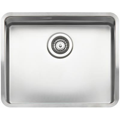 Reginox Ohio 50x40 L Inset or Undermount Sink Matt Inox