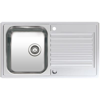 Reginox Centurio 10 R Inset 1 Bowl Sink & Drainer Polished Inox
