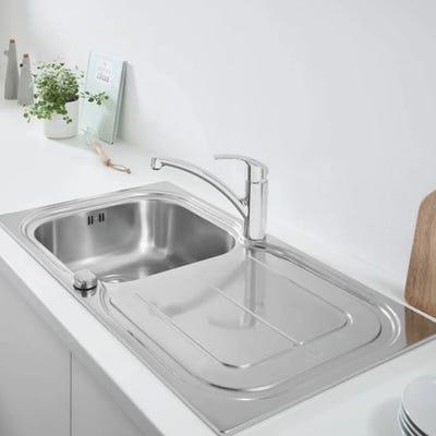 Grohe Eurosmart Stainless Steel Kitchen Sink & Tap Bundle