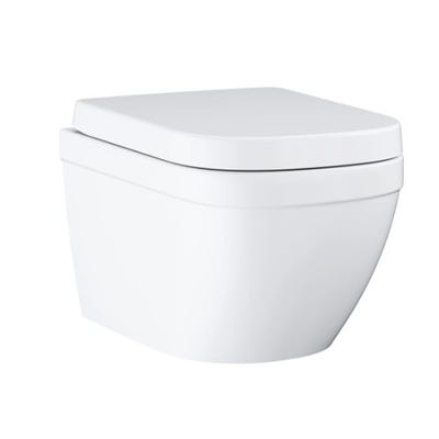 Grohe Euro Rimless Wall Hung WC With Triple Vortex And Soft Close Seat