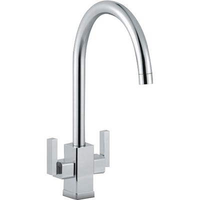 Smeg Modena Dual Lever Kitchen Mixer Tap Polished Chrome