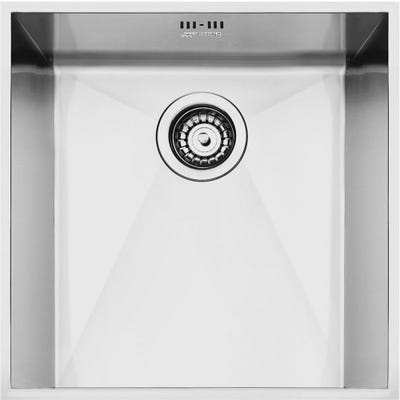 Smeg Quadra 1.0 Bowl Undermount Sink 420mm Stainless Steel