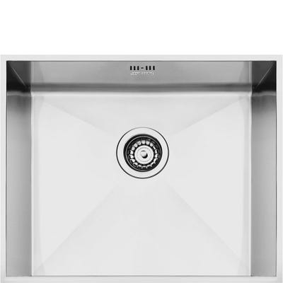Smeg Quadra 1.0 Bowl Undermount Sink 520mm Stainless Steel