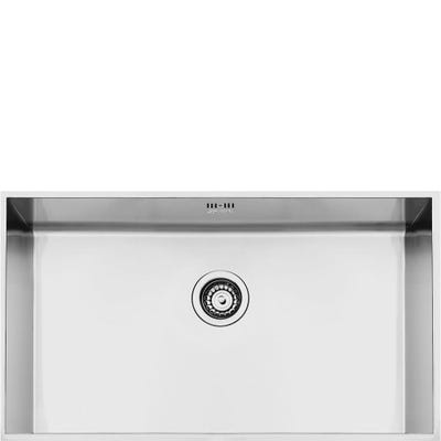 Smeg Quadra 1.0 Bowl Undermount Sink 740mm Stainless Steel