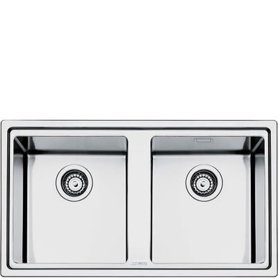 Smeg LD862-2 Mira 2.0 Bowl Inset Sink Stainless Steel