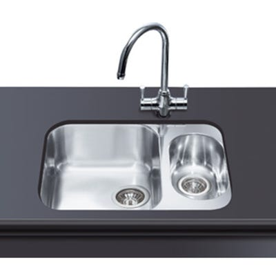 Smeg Alba 1.5 Bowl Undermount Sink 581mm Stainless Steel