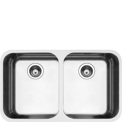 Smeg Alba 2.0 Bowl Undermount Sink 890mm Stainless Steel