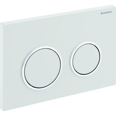 Geberit 115.240.KJ.1 Kappa21 Dual Flush Plate White & Gloss Chrome Plated