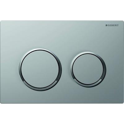 Geberit 115.240.KN.1 Kappa21 Dual Flush Plate Matt Chrome Plated & Gloss Chrome