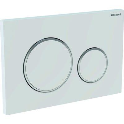 Geberit 115.882.KJ.1 Sigma20 Dual Flush Plate White & Gloss Chrome Plated