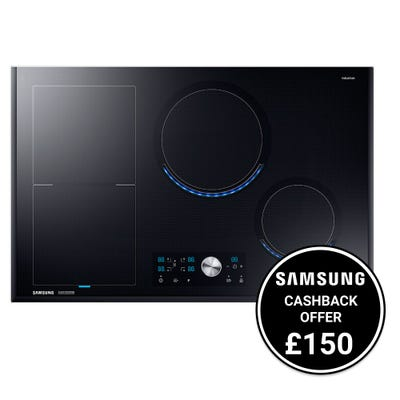 Samsung NZ84T9770EK/EU 80cm Virtual Flame Induction Hob Black Glass