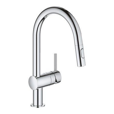 Grohe Minta C-Spout Kitchen Mixer With Pull Out Spray