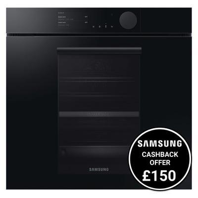 Samsung Infinite NV75T8979RK/EU Full Steam Dual Cook Pyrolytic Oven - Onyx Black