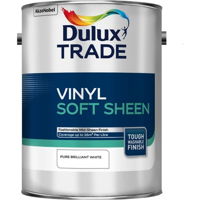 Dulux Trade Vinyl Soft Sheen Pure Brilliant White 5L