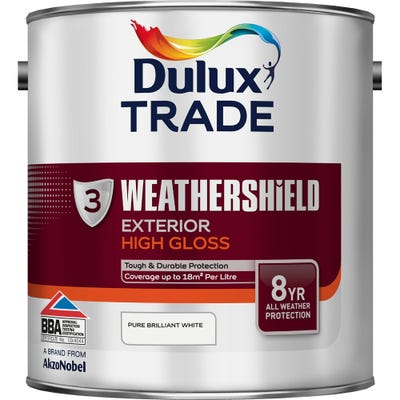 Dulux Trade Weathershield Exterior High Gloss Pure Brilliant White