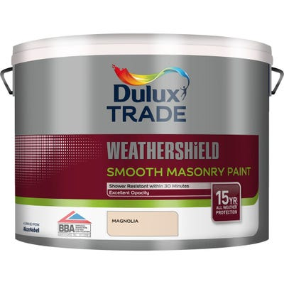 Dulux Trade Weathershield Smooth Masonry Paint Magnolia