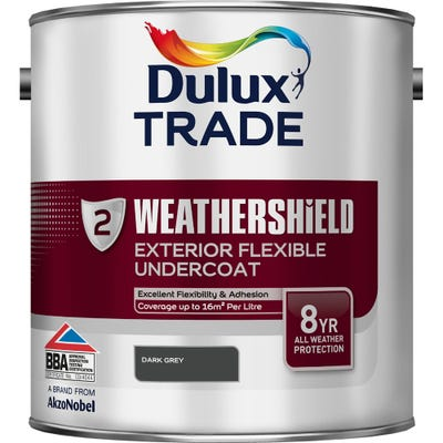 Dulux Trade Weathershield Exterior Flexible Undercoat Dark Grey