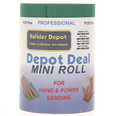 Builder Depot Professional Green Ally Oxide Sandpaper 10m Roll