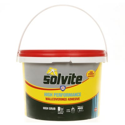 Solvite Ready Mixed Wallpaper Adhesive Tub 2.5kg