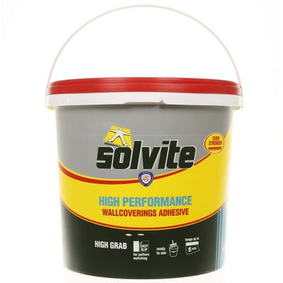 Solvite Ready Mixed Wallpaper Adhesive Tub 4.5kg