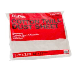 ProDec Cotton Twill Dust Sheet 12' x 12'