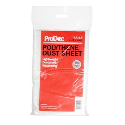 ProDec Polythene Dust Sheet 12' x 12'