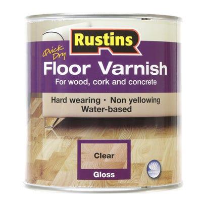 Rustins Floor Varnish Gloss Clear 1L