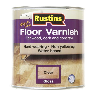 Rustins Floor Varnish Gloss Clear 1L