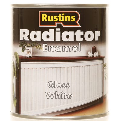 Rustins Radiator Enamel Gloss White 500ml