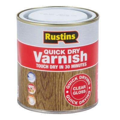 Rustins Quick Dry Varnish Gloss Clear 500ml