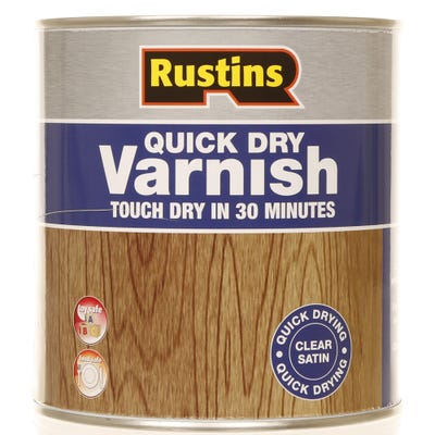 Rustins Quick Dry Varnish Satin Clear 1L